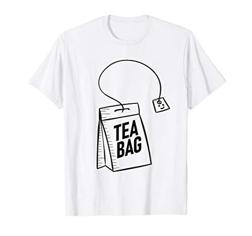 Lustiges Halloween Fasching Kostüm als Teebeutel Teefilter T-Shirt