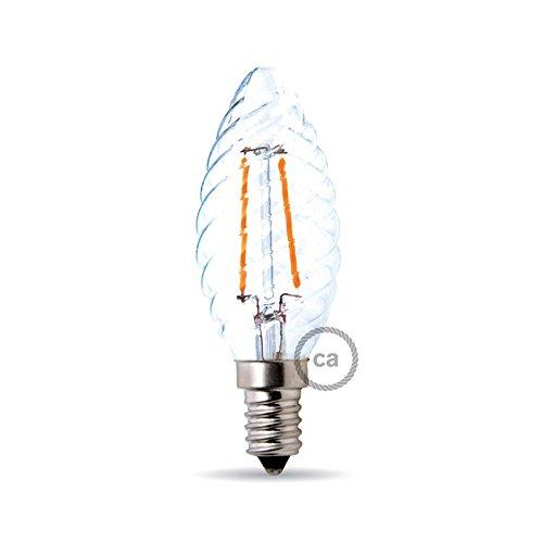 Bombilla filamento Led Vela Rizada 4W E14 Clara