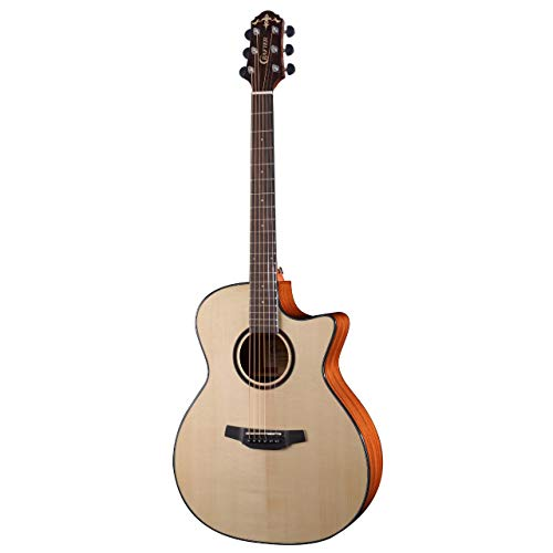 Violão Grand Auditorium Cutway Tampo Solid Spruce B/S Mogno EQ CR-T NV Gloss HG-500CE/N Crafter