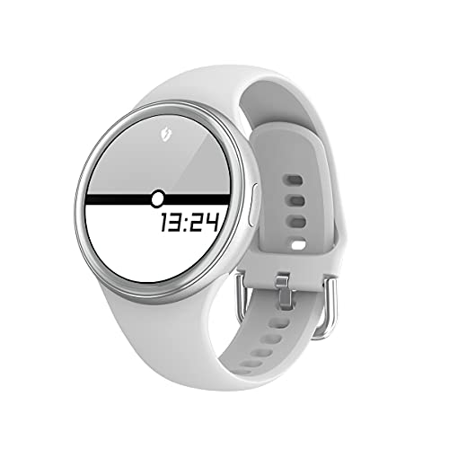 Mujer SmartWatch DIY Reloj Face Long Battery Life Smart Watch Woman Mujer Menstrual Ciclo IP68 Impermeable para Mujeres (Color : Silver)