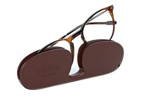 Nooz Occhiali da Lettura - Colore Tortoise Correzione +2.50 - Forma Ovale - Per Uomini e Donne - Modello Alba Collezione Essential