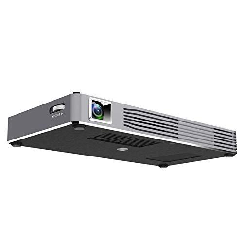ZTBGY Proyector portátil, teléfono móvil WiFi Oficina Inteligente proyector Micro 3D HD 1080P Micro Proyector con Pantalla