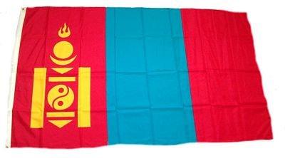 Fahne / Flagge Mongolei 90 x 150 cm Flaggen Fahnen