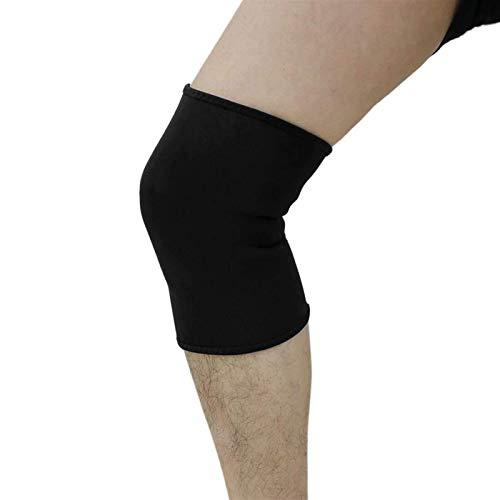 Auoeer Black Neopren Sport Baloncesto Baskeball Protector de Rodilla Confort Support Support Pad Menisco Guard