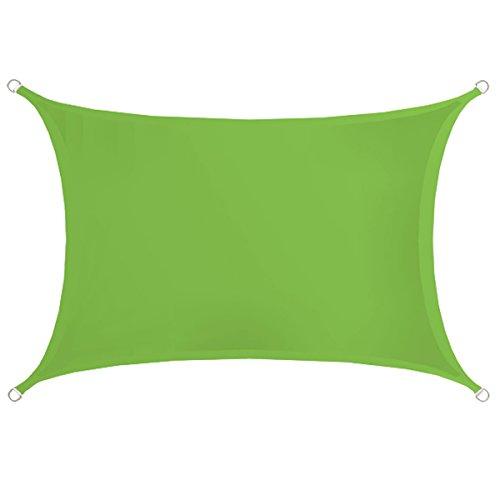AMANKA UPF50+ Toldo UV - 3x2 m Rectángulo Poliéster Hidrófugo - Vela de Protección Solar Verde