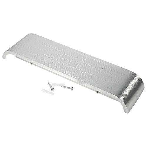 Cikonielf Modern Wall Sconce Minimalist Led Lámpara De Pared De Aluminio Para Mesita De Noche Pasillo De Baño Espejo Luz 12W 18W(12W 30Cm-Plata, Blanco Cálido)