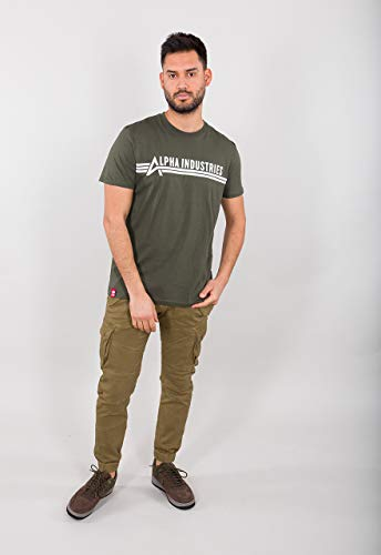 ALPHA INDUSTRIES T T-Shirt, Oliva, S Uomo
