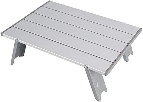 PERHIY - Mesa portátil para computadora de playa, de aluminio, ultraligera, plegable, con bolsa de transporte, para acampar en interiores y exteriores, camping, senderismo, picnic