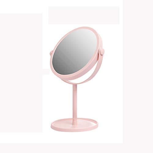 Miroir de Maquillage de 6 Pouces, Grand Miroir de Maquillage Portable de Table pivotant, Hauteur de 13 Pouces,Pink,S