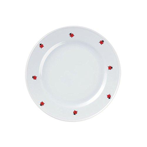 Feinkost Käfer Geschirr, Porzellan, Weiß/rot 24 x 24 x 3 cm, 1 Stück