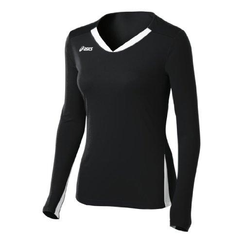 ASICS Damen Mittellinie Jersey, Damen, schwarz/weiß, XX-Large