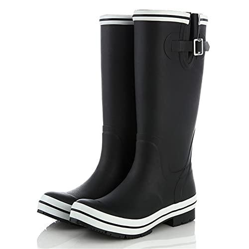 Botas De Lluvia, Tubo Alto para Adultos, Zapatos De Agua Resistentes Al Desgaste, Impermeables, Antideslizantes para Mujer, Zapatos De Jardín Al Aire Libre,B,EU38