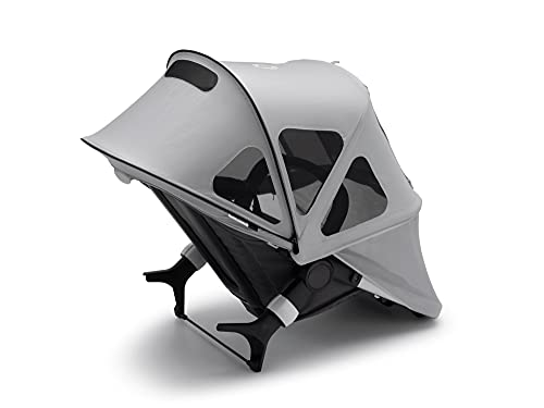 Capota ventilada Bugaboo Fox 2 - Capota extensible con protección solar UPF y paneles de malla ventilados, también compatible con el Fox y Cameleon3 (gris niebla)