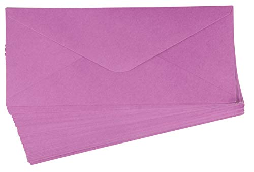 96 Pack #10 Business Envelopes in Bulk for Letter Mailing, 4 1/8 x 9 1/2 Inches, Lavender Purple