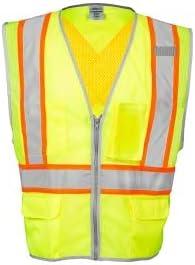 ML Kishigo 1576 Award Brilliant Series Nashville-Davidson Mall X Safety Vest Back Lim - Yellow