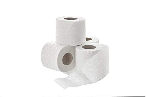 64 Rollen (8x8) Toilettenpapier Klopapier WC Papier 3-lagig weiß Tissue weich 250 Blatt auf Rolle