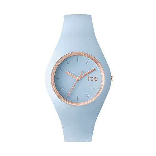 Ice-Watch - Ice Glam Pastel Lotus - Montre Bleue pour Femme avec Bracelet en Silicone - 001067 (Medium)