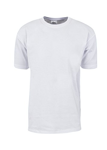 MHS01_L Max Heavy Weight Cotton Short Sleeve T-Shirt White L