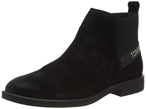 Tommy Hilfiger Damen Getty 6B Halblange Stiefel, Schwarz (Black), 40 EU