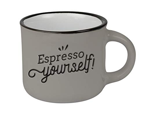 Espressotasse vintage  Mini Keramik Becher zum verschenken   95 ml   Espresso yourself