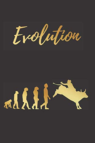 EVOLUTION: BLANK LINED NOTEBOOK | Notepad, Journal, Personal Diary | GIFTS FOR RODEOS LOVERS.