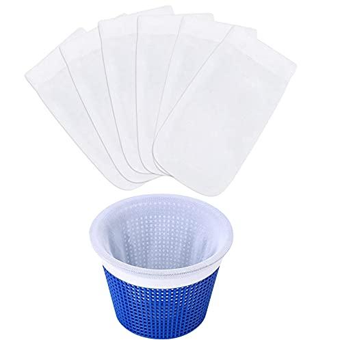 Youpin 6er Pack Schwimmbad Skimmer Socken, Pool Skimmer Filter für Schwimmbad Korb, Pool Zubehör für Pool-Reinigungs, Teichreinigung, Entfernt Schlacken, Abschaum, Pollen,Insekten, Blätter öl