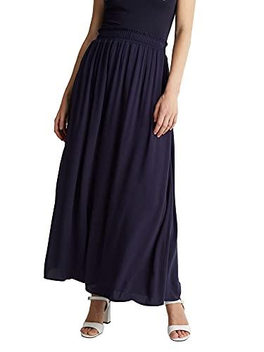 Esprit 050EE1D309 Falda, 400/azul Marino, 42 para Mujer