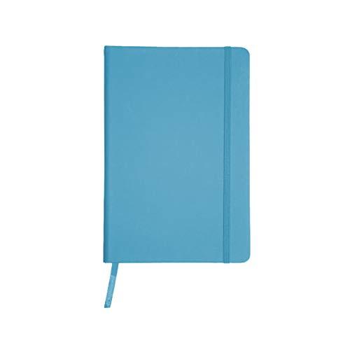 Projects Notizbuch 'Color-Line' DIN A6 - umweltfreundliches 80 g/m2 FSC-Papier 192 Seiten liniert, PU-Hardcover mit Softtouch-Bezug & Lesezeichen & Verschlussband – vielseitig verwendbar (hellblau)