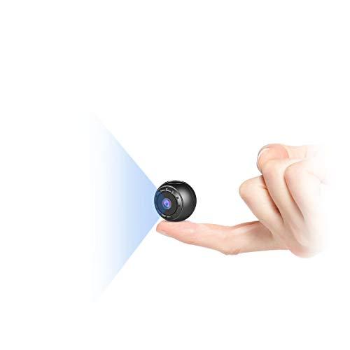 Mini Kamera Bewegungserkennung, MHDYT Full HD 1080P Mini Cam, Mikro Akku Überwachungskamera mit Infrarot Nachtsicht und Magnet, Kabellose Kleine Kamera mit Aufzeichnung für InnenundAussen