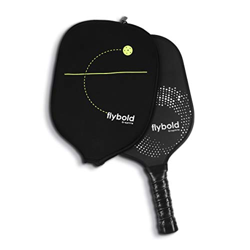 flybold Pickleball Paddle Set Graphite Face Honeycomb Composite Core Lightweight Pickleball Racket Neoprene Case Perfect Cushioned Grip 4.25 inch Ideal for Beginner Professional Women Kids Outdoor
