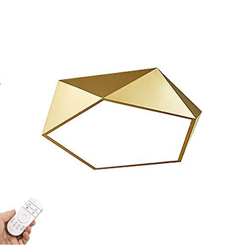 LED Plafoniera,Moderno Incasso Plafoniera Illuminazione Diamante Lampada Da Soffitto Con Telecomando 36W 6500K Bianco Fresco(Dorato)-Sintonizzato In Remoto 42x10cm (17x4inch)