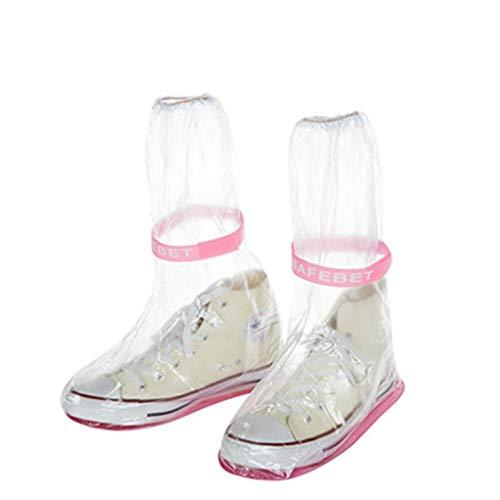 TEELONG Schuhüberzieher 100% wasserfest Wasserdichter Erwachsener Flattie Rain Überschuhe mit strapazierfähigem PVC-Material für Reisen