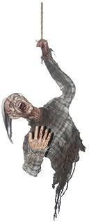 Hanging Bloody Zombie Torso Halloween Prop Skeleton Realistic Haunted House