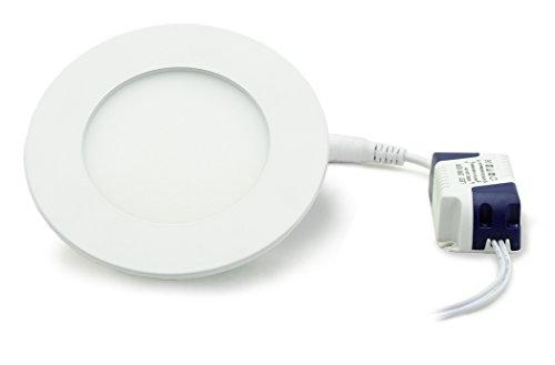 Panneau LED rond avec 4 W de puissance, encastrable, DIMM Bar, chaud, 8,6 cm – type : Economy r4086ww d