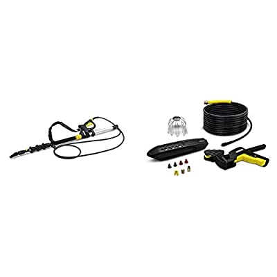 Kärcher Telescopic Jet Pipe & 20 m Pipe and Guttering Cleaning Kit, Pressure Washer Accessory by