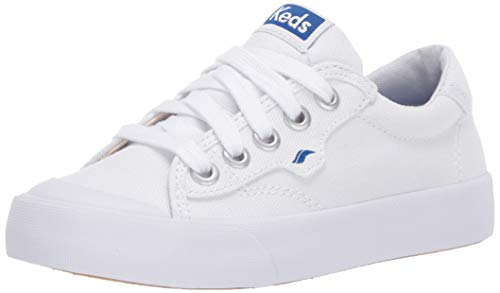 Keds girls Keds Crew Kick ?75 Sneaker, White, 1 Big Kid US