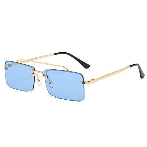 Gafas De Sol Gafas De Sol Rectangulares Pequeñas para Mujer Gafas De Sol Cuadradas Sin Montura para Mujer Estilo Gafas De Sol Uv400 para Mujer-C6