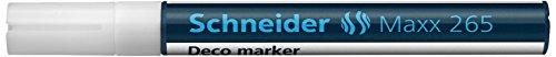 Schneider Schreibgeräte Windowmarker Decomarker Maxx 265, 2-3 mm Lackmalstifte Outliner Marker bianco