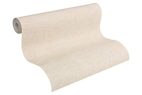 A.S. Création Vliestapete Bohemian Burlesque Tapete Uni 10,05 m x 0,53 m beige creme Made in Germany 960795 96079-5