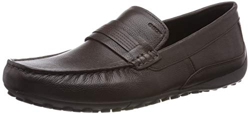 Geox UOMO Snake Mocassino, Mocasines Hombre, Marrón (Coffee C6009), 43 EU