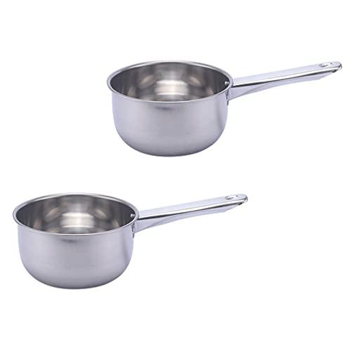 Cabilock 2 Cucharas de Agua de Acero Inoxidable Cucharón de Sopa de Agua Cuchara Cucharón Grande para Servir con Mango Largo Utensilios de Cocina 18Cm