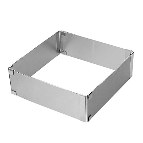 Adjustable Stainless Steel Cake Mould Baking Square Form Ring Home