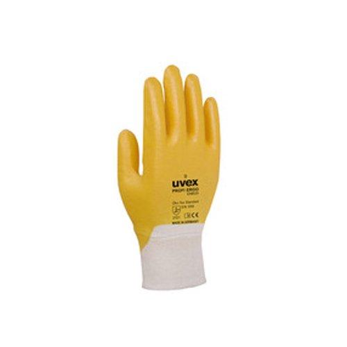 Uvex 601476Profi Ergo enb20a Sicherheit Handschuh, Größe: 6, weiß, orange