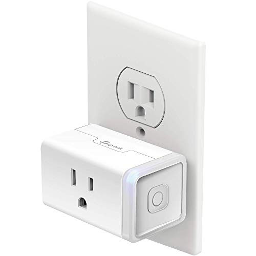 Kasa Smart Plug Mini with Energy Monitoring, Smart Home Wi-Fi Outlet Works with Alexa, Google Home & IFTTT, Wi-Fi Simple Setup, No Hub Required (KP115), White – A Certified for Humans Device