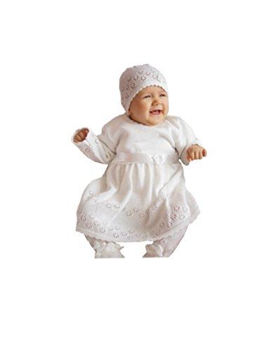 EKO Baby Mädchen Set Mütze und Taufkleid, Größe:68