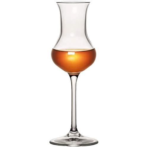 QSCTYG Copa De Vino 80ml Tulipanes Whisky escocés Vidrio de la Boda Champagne Copas de Vino Catador Chivas Licor Ron cáliz 71 (Color : As Shown, Size : 80ml)