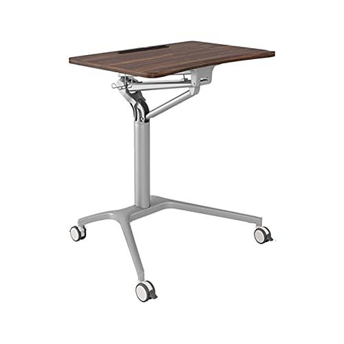 Mesa de Ordenador Escritorio Moderna mesa de elevación de la mesa de elevación de la mesa de altura de la mesa de altura de la mesa de la mesa de trabajo con ruedas de bloqueo silencioso para la ofici