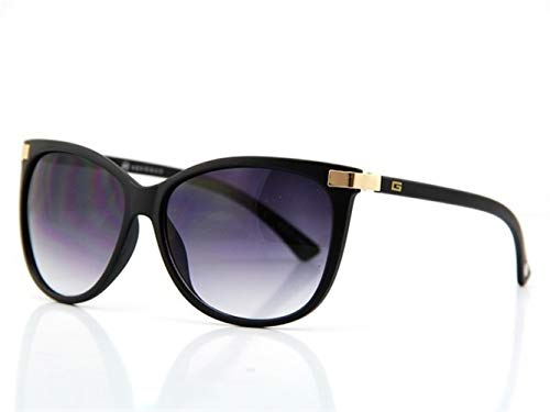 Yi-xir diseño Clasico Gafas clásicas de la Marca del Ojo del Gato Gafas de Sol Vendimia Vendimia Moda (Color : NO2 Matte Black)