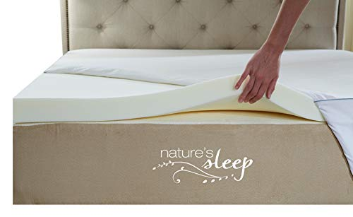 Nature's Sleep Cool IQ Queen Size 2.5 Inch Thick, 3.5 Pound Density Visco Elastic Memory Foam...