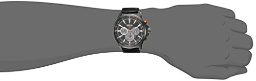 Seiko Core Homme 45mm Bracelet Cuir Noir Quartz : Solaire Montre SSC639